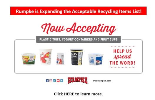 Rumpke is Expanding the Acceptable Recycling Items List!