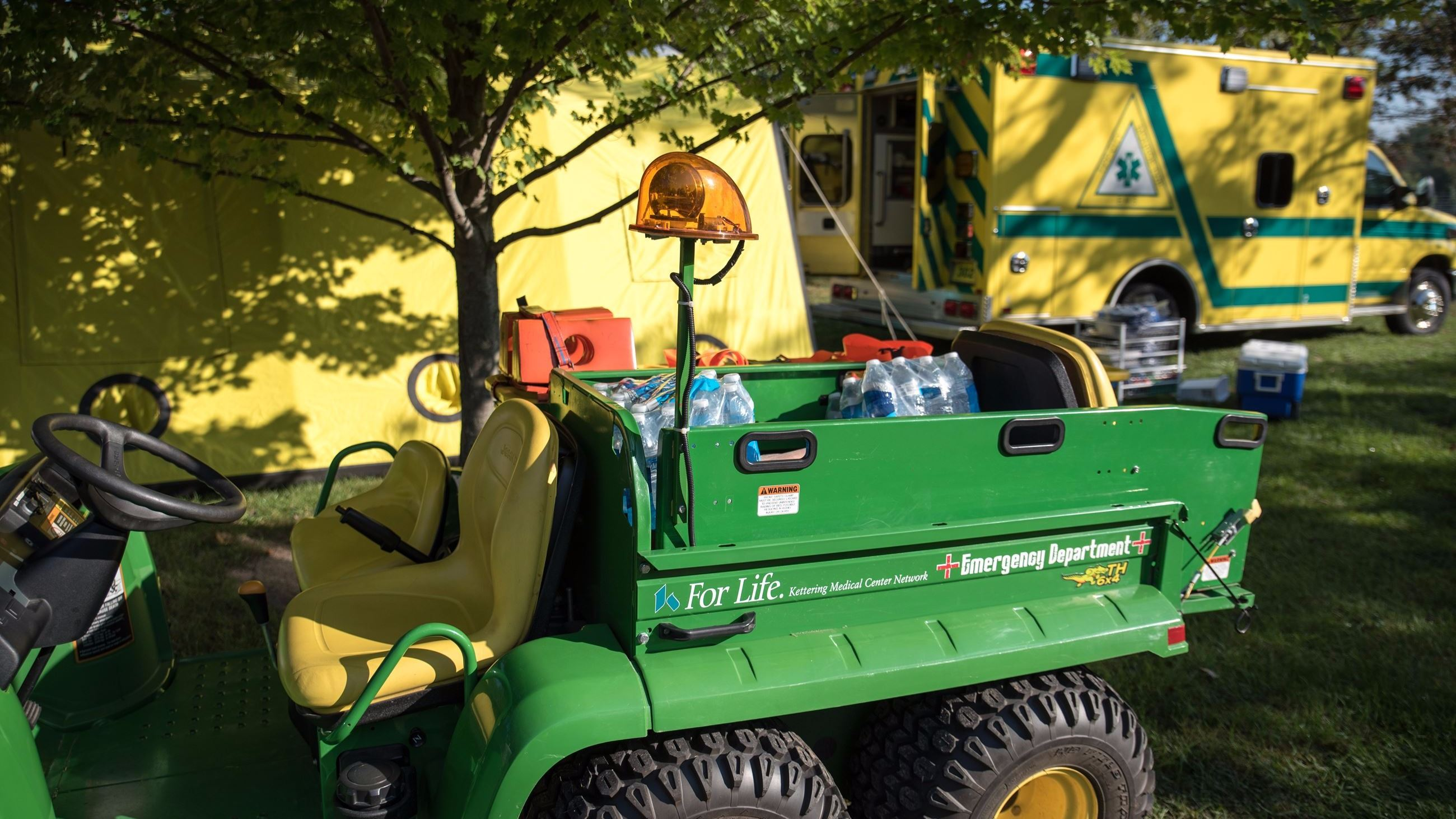 John Deere Gator and Tipp City EMS Ambulance