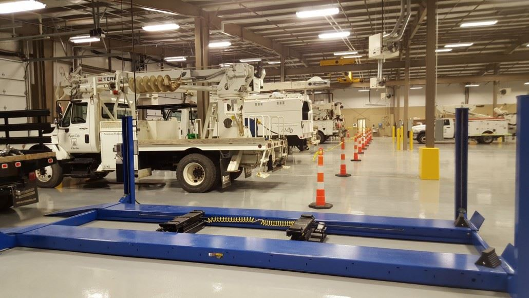 Tipp City Electric Trucks in Service Bay